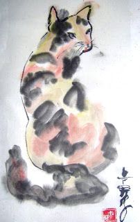 Chinese Brush Painting by Carol Lavoie - Calico