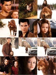 Renesmee Cullen And Jacob Black Of The Twilight Saga. Twilight Jacob And Renesmee, Twilight Film, Jacob Black Twilight, Twilight Quotes, Twilight Saga Series, Twilight Edward, Twilight Breaking Dawn, Breaking Dawn Part 2, Edward Bella