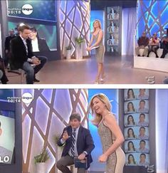 Federica Panicucci in/wearing Mantù Mattino Cinque 25 01 2011
