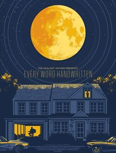 The Gaslight Anthen presents Every Word Handwritten short film poster by El Jefe Design