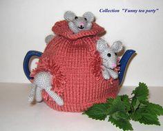 Tea cozy Mice ate everything. Teapot cozy. Crochet