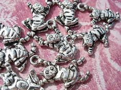10   Cheshire Cats Drops D.I.Y. Alice in by magicbeadbox on Etsy, $3.95