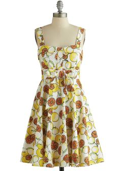 For charlottes party---Pull Up a Cherry Dress in Citrus, #ModCloth