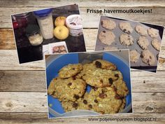 Anita's potjes en pannen: Havermoutkoekjes! Zonder suiker, met appel en rozi...