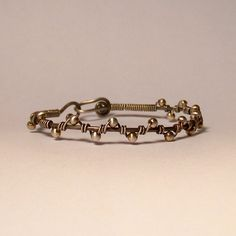 Sterling Silver Wire Wrapped Bracelet - ZIG ZAG - Made to Order. $45.00, via Etsy.