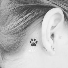 my tattoo! pawprints behind the ear. | tattoo ideas ...