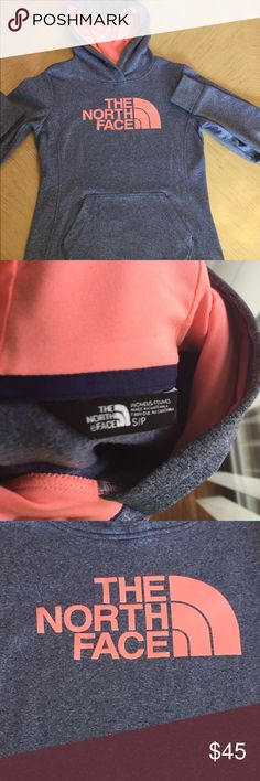 Flash Sale🎉Womens Heather Blue & Peach North Face . LIKE NEW🎉🎉Very Cute, Light Weight, Women's North Face Pull Over Hoodie. Colors Compliment Each Other Very Well, Looks Even Better In Person! (This Color is No Longer in Stores) Worn Once, No Flaws( Sale is Today Only!!) The North Face Tops Sweatshirts & Hoodies