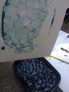 Simple Little Home: Bubble Printing Tutorial Mark Making, Art Club, Art Plastique, Teaching Art, Elementary Art, Oeuvre D'art, Art Techniques, Art Education, Art School