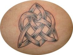 Triquetra celtic knot with incorporated heart.