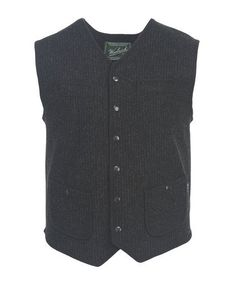 Men s Utility Vest Snap Front Closure Utility Vest, Wool Vest, Conductors,  Outdoor Outfit 17923c3a6921