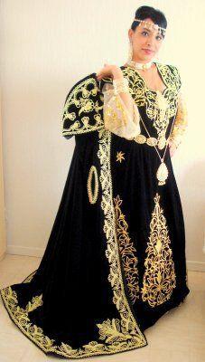 Gandoura ksantinia and Burnus El-Bey .Algeria Traditional clothing