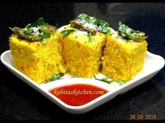 Instant sandwich khaman dhokla recipe chutney tomato sauce dhokla recipe how to make soft and spongy dhokla khaman dhokla besan dhokla forumfinder Gallery