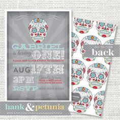 Diary Of A Crafty Chica DIA DE LOS MUERTOS CRAFT MiniSilkscreen - Day of the dead party invitation template