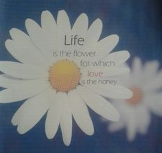 Life is the flower for which love is the honey