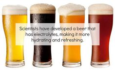 Beer that has Electrolytes Australian Beer, Homemade Beer, Alcohol Content, How To Make Beer, Beer Brewing, Beverages, Good Things, Scientists, Drinking