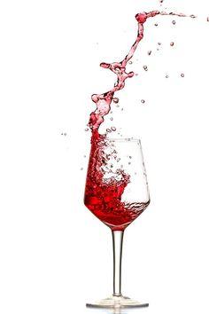 Rotwein, Splash, Ausschütten, Spritzer, Weinglas