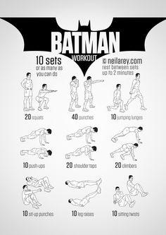 Simple 'Batman Workout' Exercises To Turn You Into Your Favorite Superhero - DesignTAXI.com