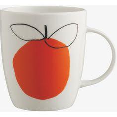 Adam Red Apple Porcelain Mug