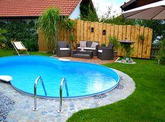 ovalbecken stahlwandpool 1,20 m tief made in germany | pool im, Garten und bauen