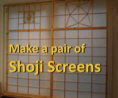Make a Pair of Shoji (Japanese Sliding) Screens - Modern Japanese Interior Design, Japanese Home Decor, Asian Home Decor, Japanese House, Diy Japanese Furniture, Japanese Design, Japanese Style, Japanese Woodworking, Learn Woodworking