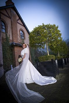 bride in front of the nenagh court hotel, nenagh co. tipperary