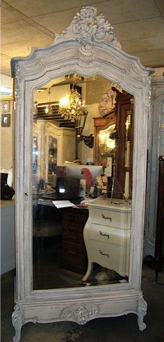 Antique Louis XV Single Door French Armoire