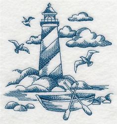 Machine Embroidery Designs at Embroidery Library! - Lighthouses