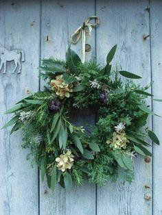 Natural Wreath, Christmas Wreath, Evergreen Wreath, Farmhouse Christmas, Rustic Christmas