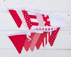 Your place to buy and sell all things handmade Red Fabric, Cotton Fabric, St Georges Day, St George's, Fabric Bunting, Party Guests, Star Patterns, White Fabrics, Color Blocking