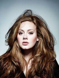 Adele auburn hair