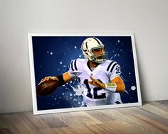 Andrew Luck indianapolis colts Poster Andrew by TroutLifeStudio