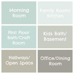 The Paint Colors of My House