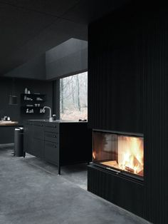 """wetheurban: """" DESIGN: The Vipp Shelter House goals. The Vipp Shelter is a minimalist prefab concept located in Copenhagen, designed by Danish design company Vipp. A 55 square meter steel object. Black Interior Design, Interior Design Inspiration, Interior And Exterior, Design Ideas, Interior Modern, Daily Inspiration, Black Room Design, French Interior, Minimalist Interior"""