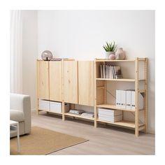 Ivar Regal, Ikea Ivar Cabinet, Ikea Ivar Shelves, Ikea Shelving Unit, Armoire En Pin, Cube Storage Unit, Storage Organizers, Pine Cabinets, Muebles Living
