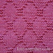 Knit Together | Squares, Diamonds, Basket Stitch Patterns