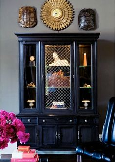 if you don't have a dinning room you can take that formal china cabinet, paint it, and decorate w/artifacts instead of china!