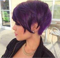 Short hair violett