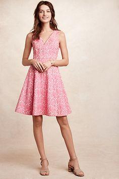 Claribel Dress #anthropologie Love the color, cut, print, skirt, v-neck--everything!