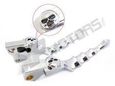 21.83$  Watch now - Unbreakable Chrome Steel Skull Skeleton Zombie Lever For HARLEY 2007 Sportster 883 XL883  #buyininternet