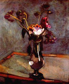 henri matisse / Le Bouquet sur la table de bambou, 1903