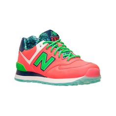 New Balance Women's 574 Casual Shoes, Pink ($25) ❤ liked on Polyvore featuring shoes, athletic shoes, pink, new balance footwear, traction shoes, retro shoes, new balance athletic shoes and pink athletic shoes
