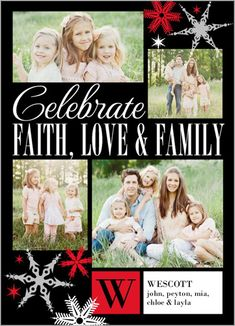 Faith, love, and family should be celebrated during the holidays. | Classy Flakes Christmas Card at Shutterfly.com
