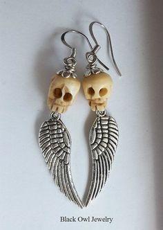 Sweet Death earrings by The Black Owl Jewerly
