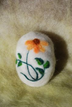 Felted Soap Black Eyed Susan Handmade by BondurantMountainArt, $12.00