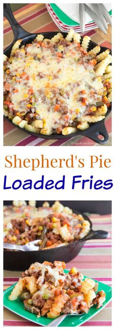 Shepherds Pie Loaded Fries - the classic comfort food turned into a fast weeknight meal the kids will love! | cupcakesandkalechips.com | @AlexiaFoods #FarmtoFlavor #sponsored #ad