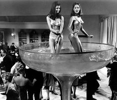 a huge champagne glass to dance in