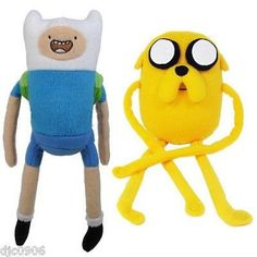 Adventure Time With Finn & Jake Plush Backpack Set of 2 by Jawwares-New w/ Tags