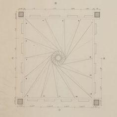 Lina Bo Bardi / Plan of staircase at Solar do Unhão/