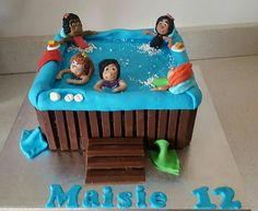 Childrens hot tub cake Pool Party Cakes, Pool Cake, Spa Party, Spa Cake, Cake Hacks, Twins Cake, Retirement Cakes, Summer Cakes, Birthday Cakes For Men