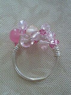 Pink wire ring